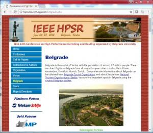Sajt konferencije IEEE HPSR 2012